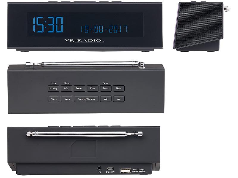 vr radio digitales dab fm stereo radio mit wecker usb. Black Bedroom Furniture Sets. Home Design Ideas