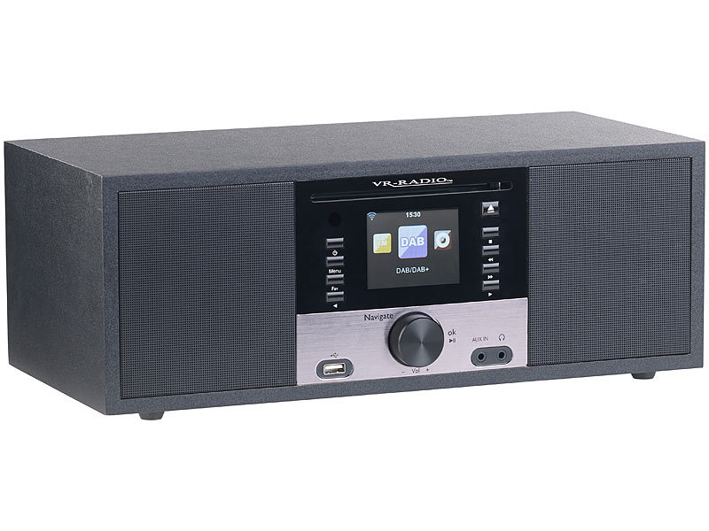 vr radio stereo internetradio m cd player dab fm. Black Bedroom Furniture Sets. Home Design Ideas