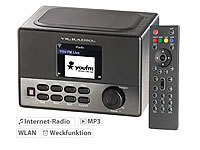 VR-Radio WLAN-Internetradio mit Wecker, USB-Ladestation, 8 Watt, 7,2 cm TFT