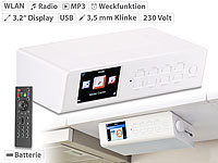 VR-Radio WLAN-Küchen-Internetradio mit Wecker, USB-Ladestation, 8,1-cm-Display