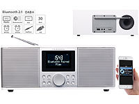 VR-Radio Digitales DAB+/FM-Stereo-Radio mit Bluetooth & Wecker, 30 Watt, weiß