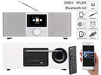 VR-Radio Stereo-Internetradio mit DAB+, FM, Bluetooth & Wecker, 32 Watt, weiß