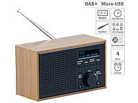 VR-Radio Digitales DAB+/FM-Radio mit Wecker, LCD-Display, Holzdesign, 4 W; HiFi-Tuner für Internetradios & DAB+, mit USB-Ladeports HiFi-Tuner für Internetradios & DAB+, mit USB-Ladeports HiFi-Tuner für Internetradios & DAB+, mit USB-Ladeports