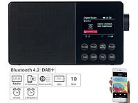 VR-Radio Mobiles Akku-Digitalradio mit DAB+, FM, Bluetooth & Farbdisplay, 10 W