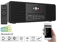 VR-Radio Stereo-Internetradio mit CD-Player, DAB+/FM & Bluetooth, 40 W, schwarz