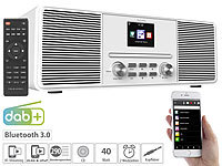 VR-Radio Stereo-Internetradio mit CD-Player, DAB+/FM & Bluetooth, 40 Watt, weiß