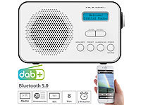 VR-Radio Mobiles Akku-Digitalradio mit DAB+ & FM, Wecker, Bluetooth 5, 8 Watt