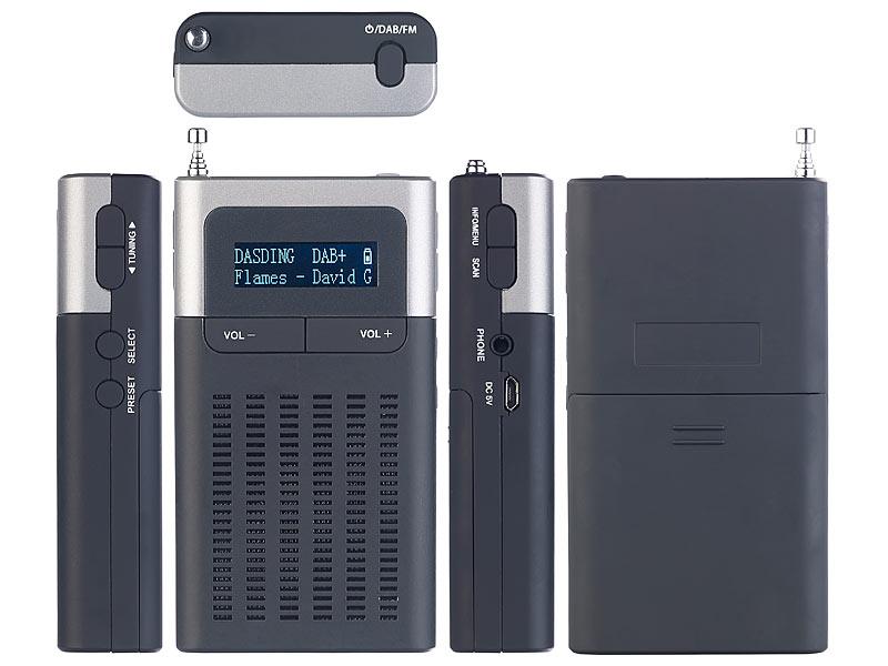 Roadstar CLR-290D+ DAB+ Radiowecker mit LCD-Display digitaler ...
